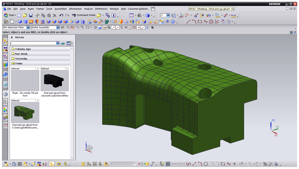 Reengineering Model Data in NX | Swoosh Technologies & Solutions