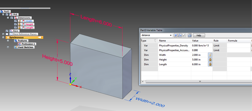 How to Use Variable Tables in Solid Edge