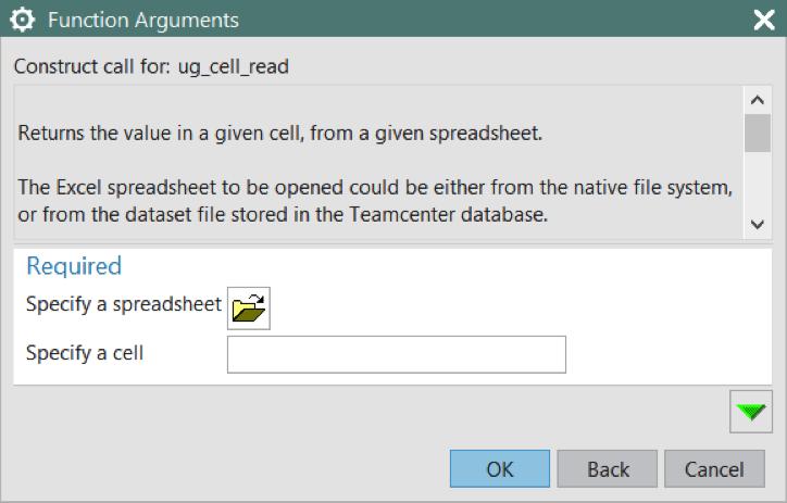 Spreadsheet Data in NX