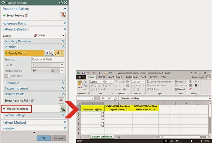 Working with Spreadsheet Data in NX 9 - Swoosh Technologies