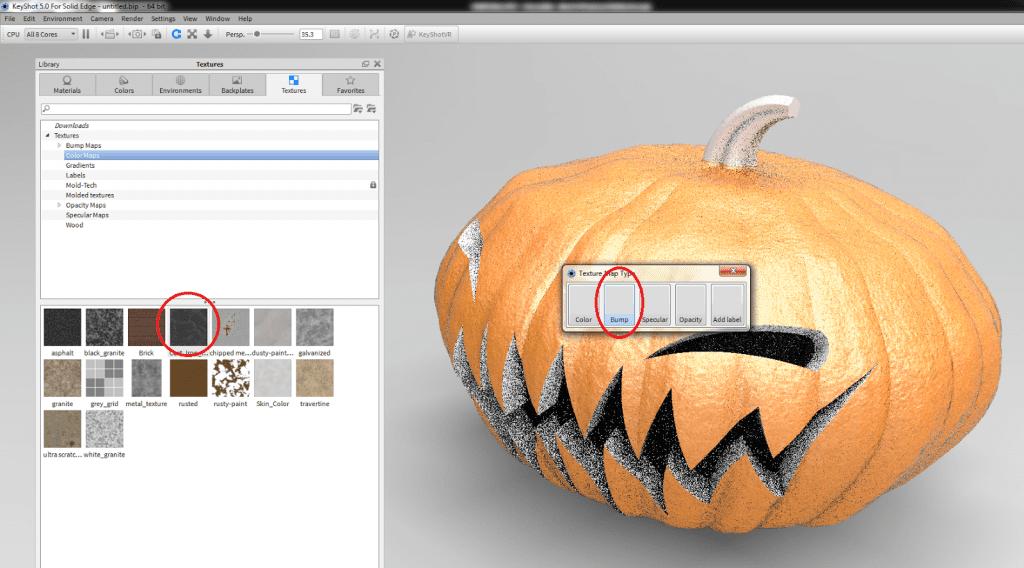 Halloween fun with Solid Edge ST7 and KeyShot - Swoosh