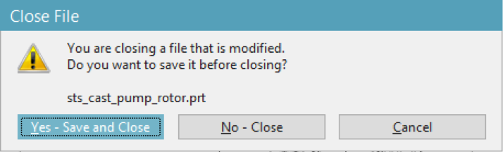 NX file save