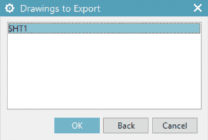 NX Drawings to Export