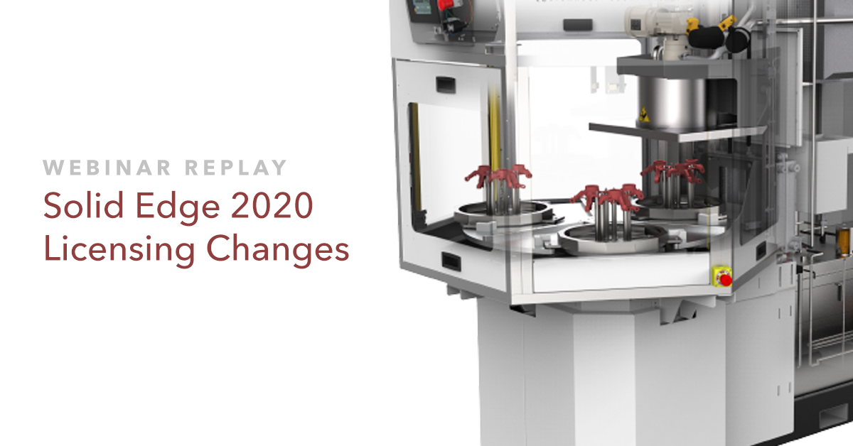 Solid Edge 2020 Licensing Changes