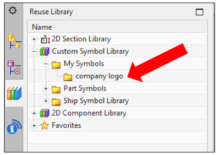 NX My Symbols in Reuse Library